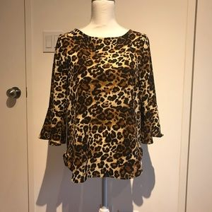 Beautiful leopard print top. NWOT